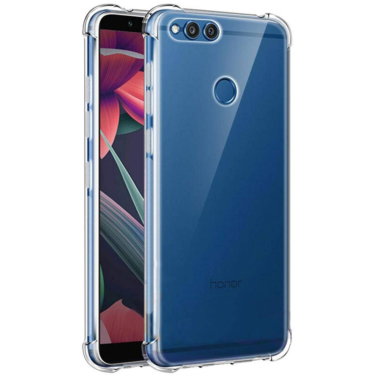 Huawei Honor 7x Shockproof Armor Case Transparent Back Cover