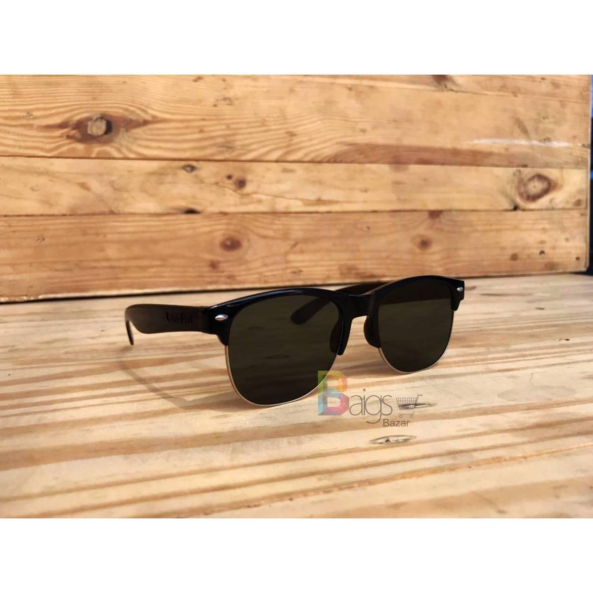 Jet Black Sunglasses For Men - Stylish Sun Glasses For Boys