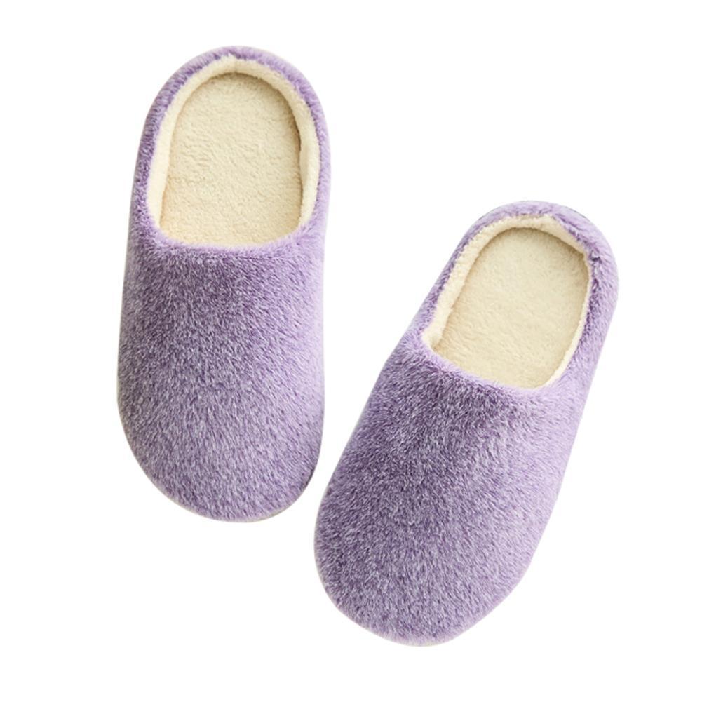 7b8d0d9d Amamia Unisex Autumn Winter Warm Soft Home Non-Silp Pure Color Slippers  Indoor Shoes