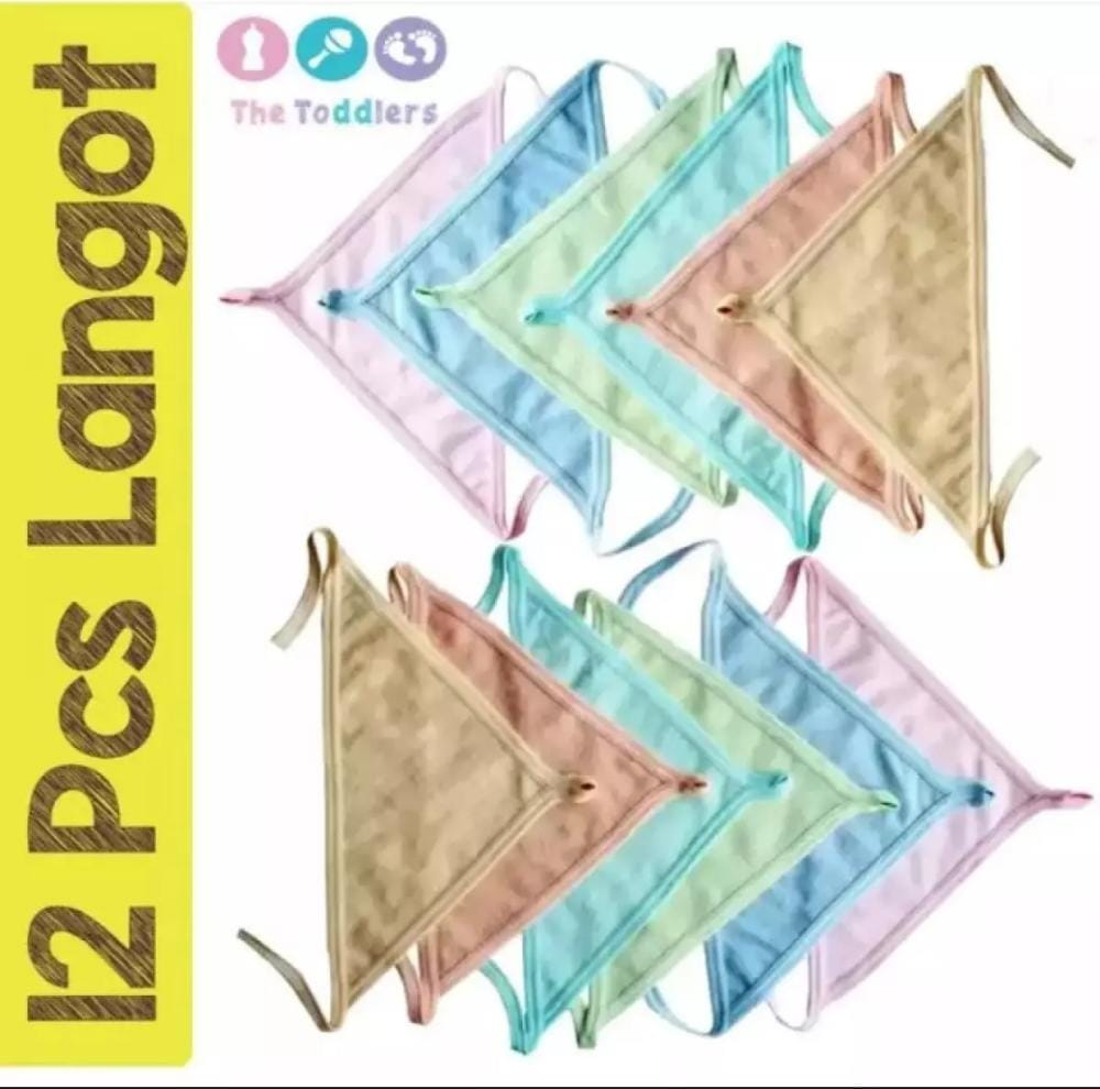 Pack Of 4 Cotton Langot / Nappy for New Born Babies In Multicolour