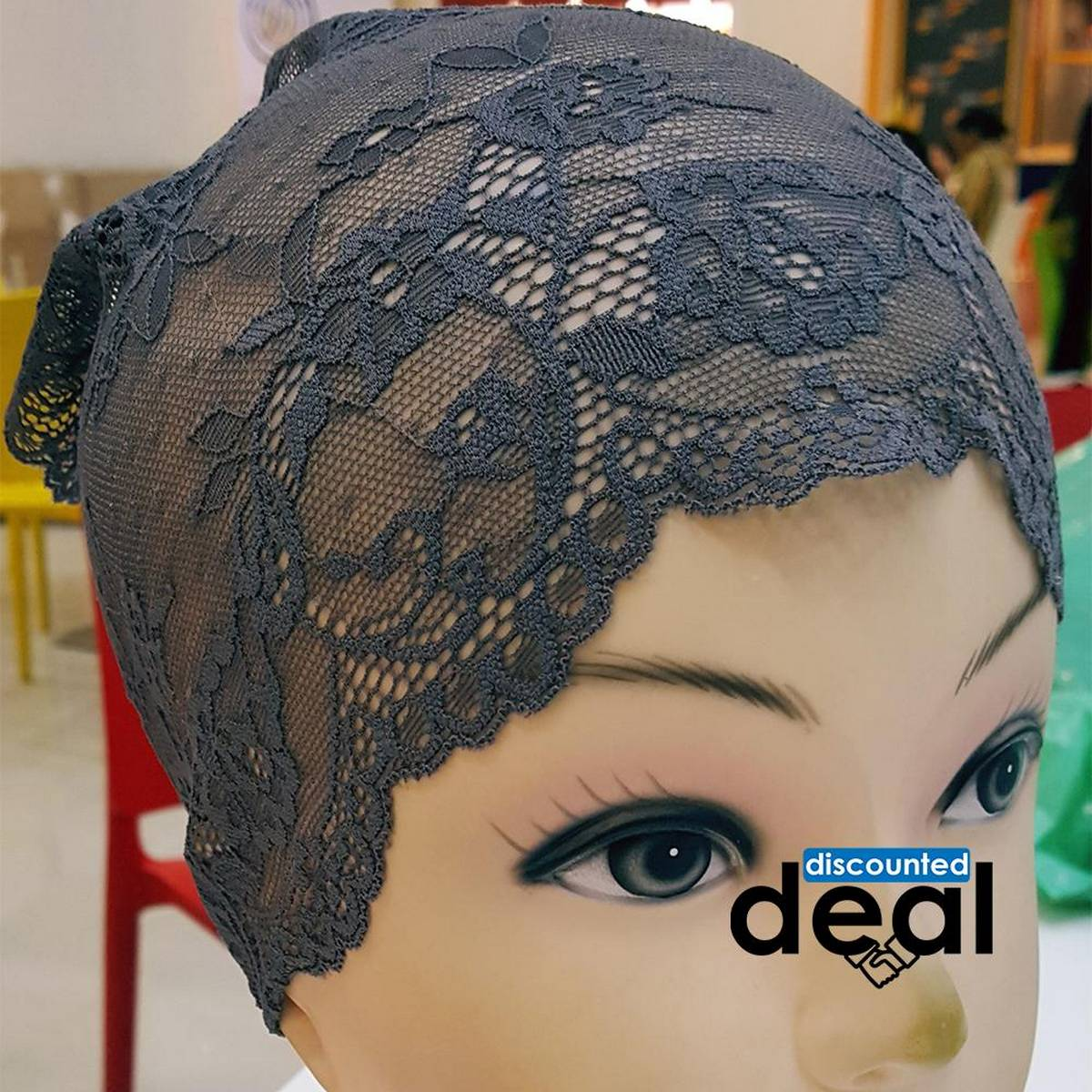 lace net Grey Muslim Headscarf Inner Hijab Caps Wraps Women Islamic Under Scarf Ninja Scarf Ramadan Stretch Cotton Bonnet Caps
