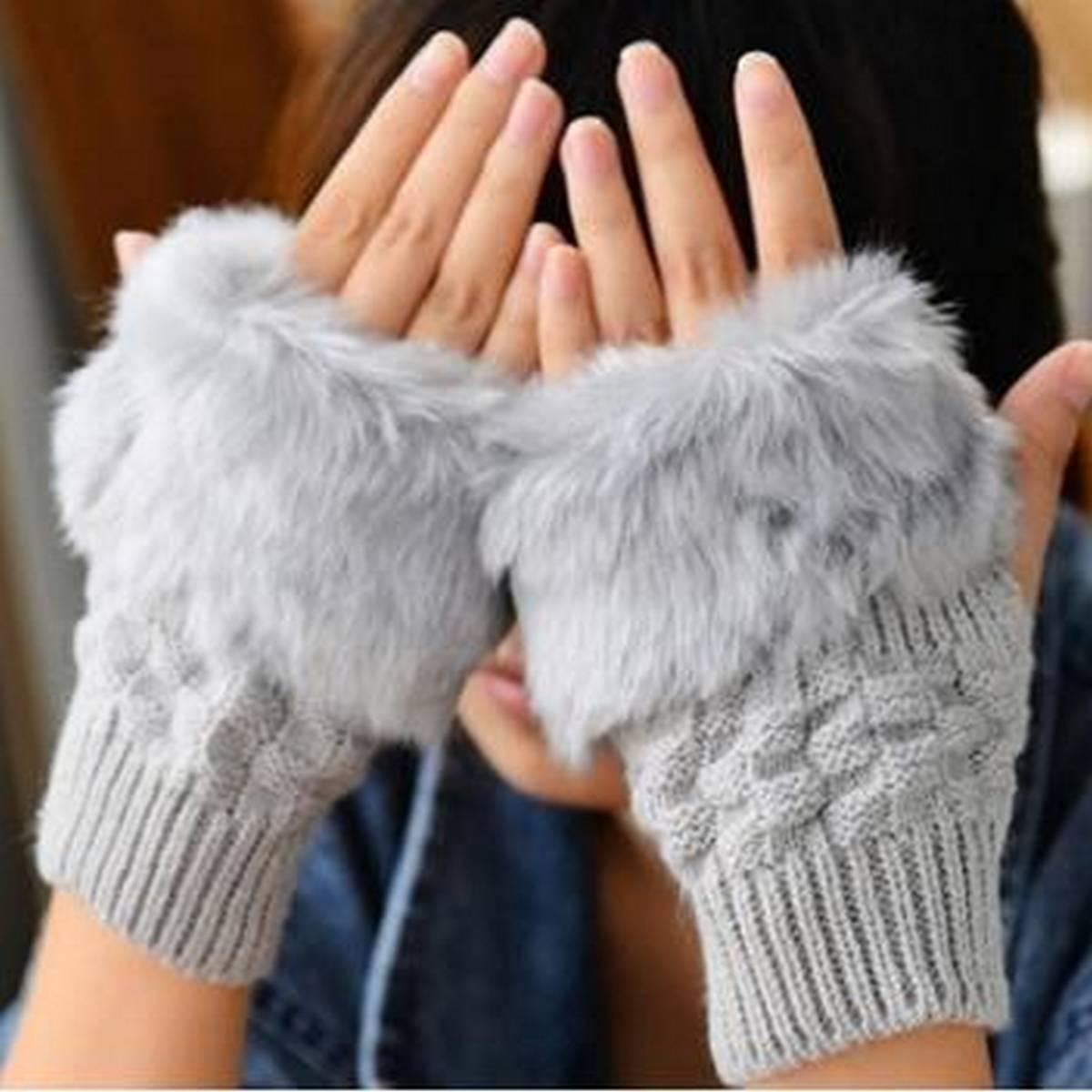 Winter Autumn Warmer Fashion Girls Wrist Gloves Women Knitted Fingerless Finger Glove
