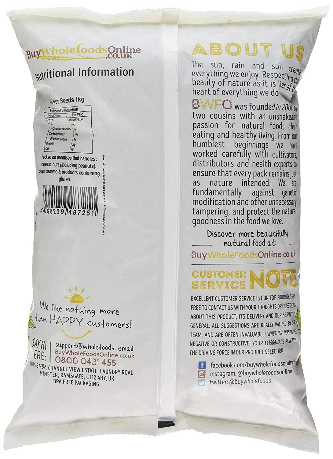 Buy Whole Foods Online Sunflower Seeds 114g