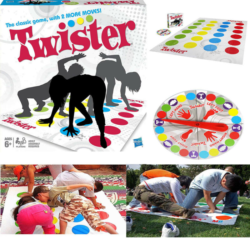 Discover Twister Board Game with Finger Spin the Wheel, Floor Game - Physical Multiplayer, Classic, Fun Games, for Adults, Kids, Boys, Girls, - Perfect Indoor and Outdoor, Classic Games, for Party, Birthday, Get Together, Ideal Gift, Present
