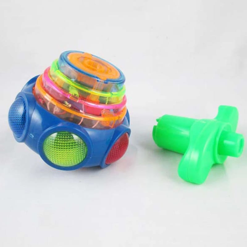 Flashing UFO Musical Spinning Top Set with Light and Music For kids