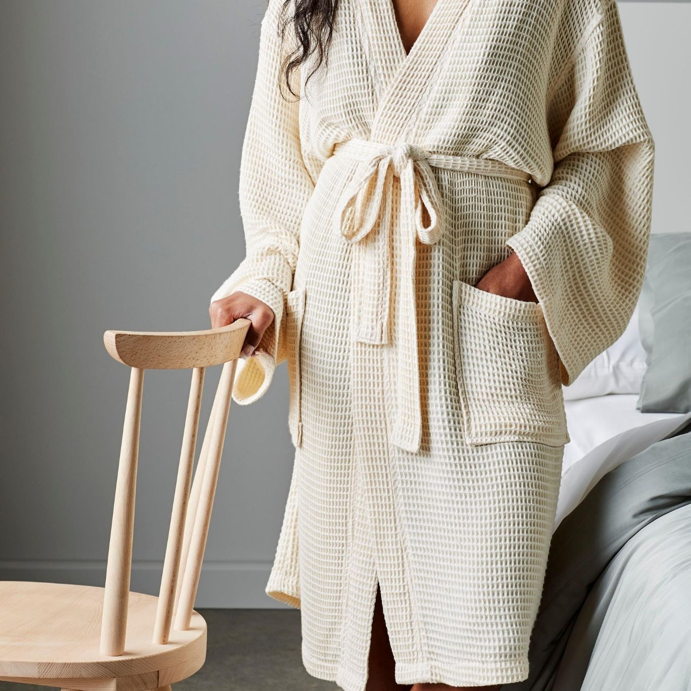 Adult Bathrobe 100% Cotton  Waffle. Mens Ladies Dressing Gown Toweling