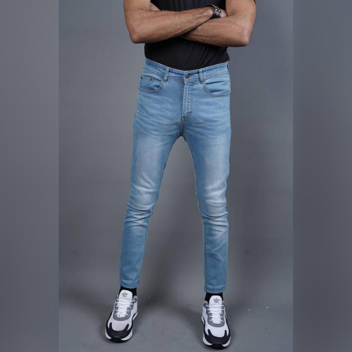 Men's Slim Fit Jeans - Light Blue