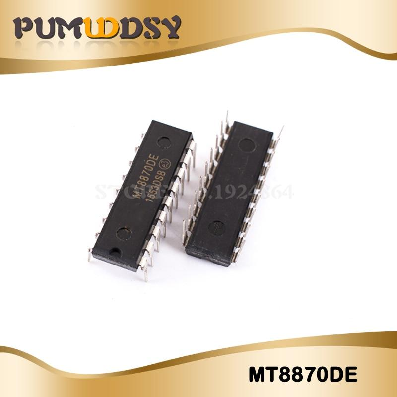10pcs/lot Free shipping MT8870DE MT8870 8870 RECEIVER DTMF 18DIP IC Best  quality