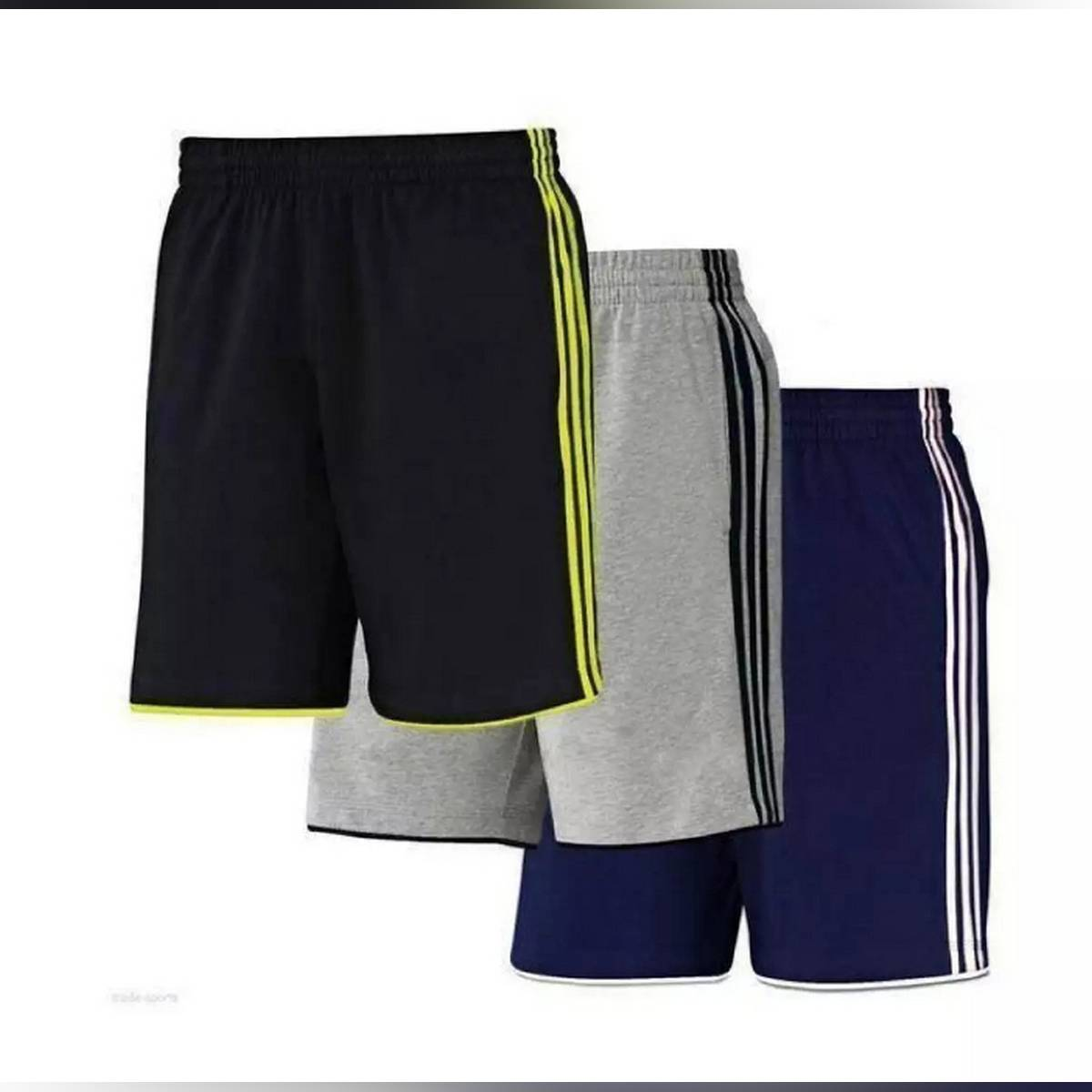 Pack Of Three - Jersey Gym Shorts For Men
