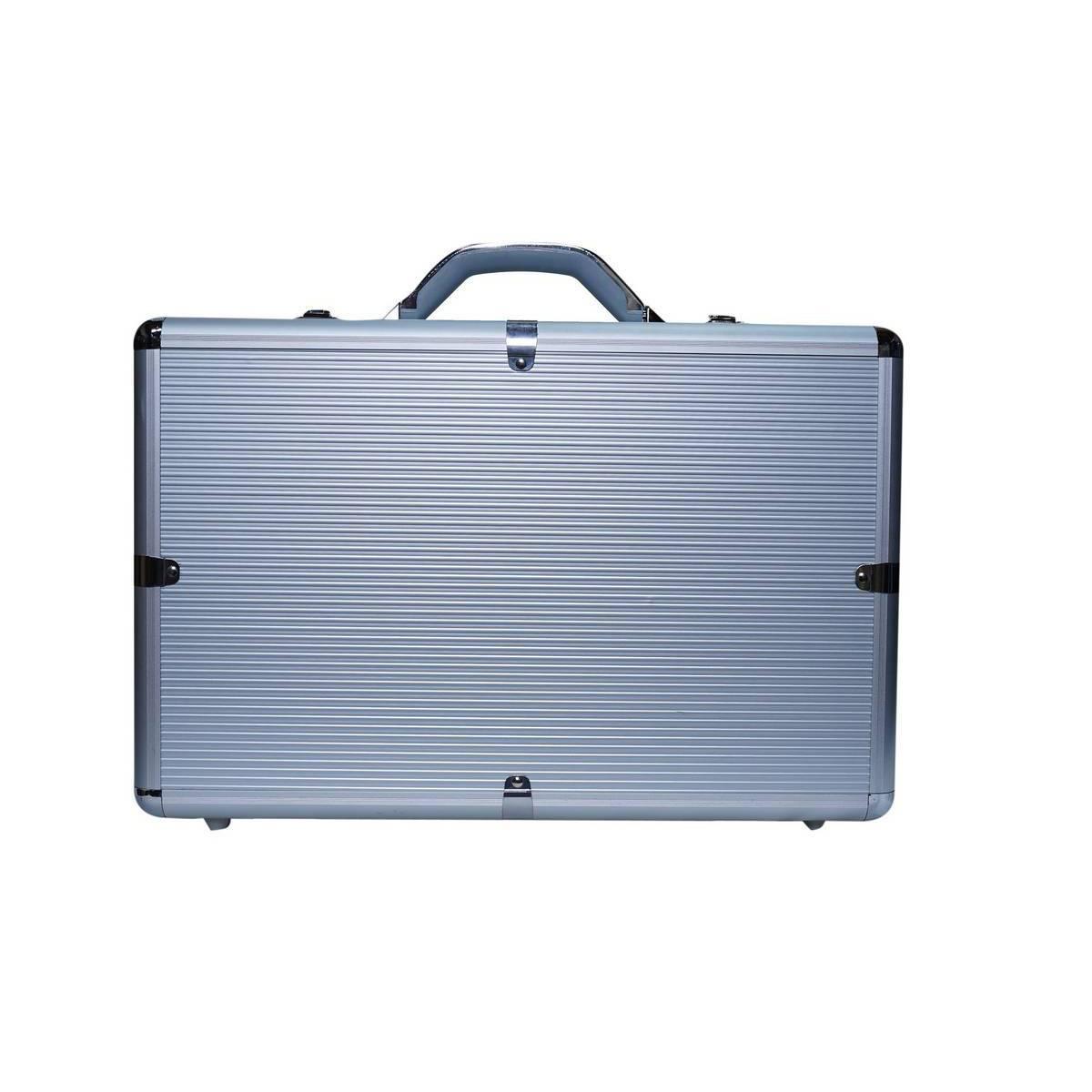 Aluminium Executive Briefcase Silver - Large