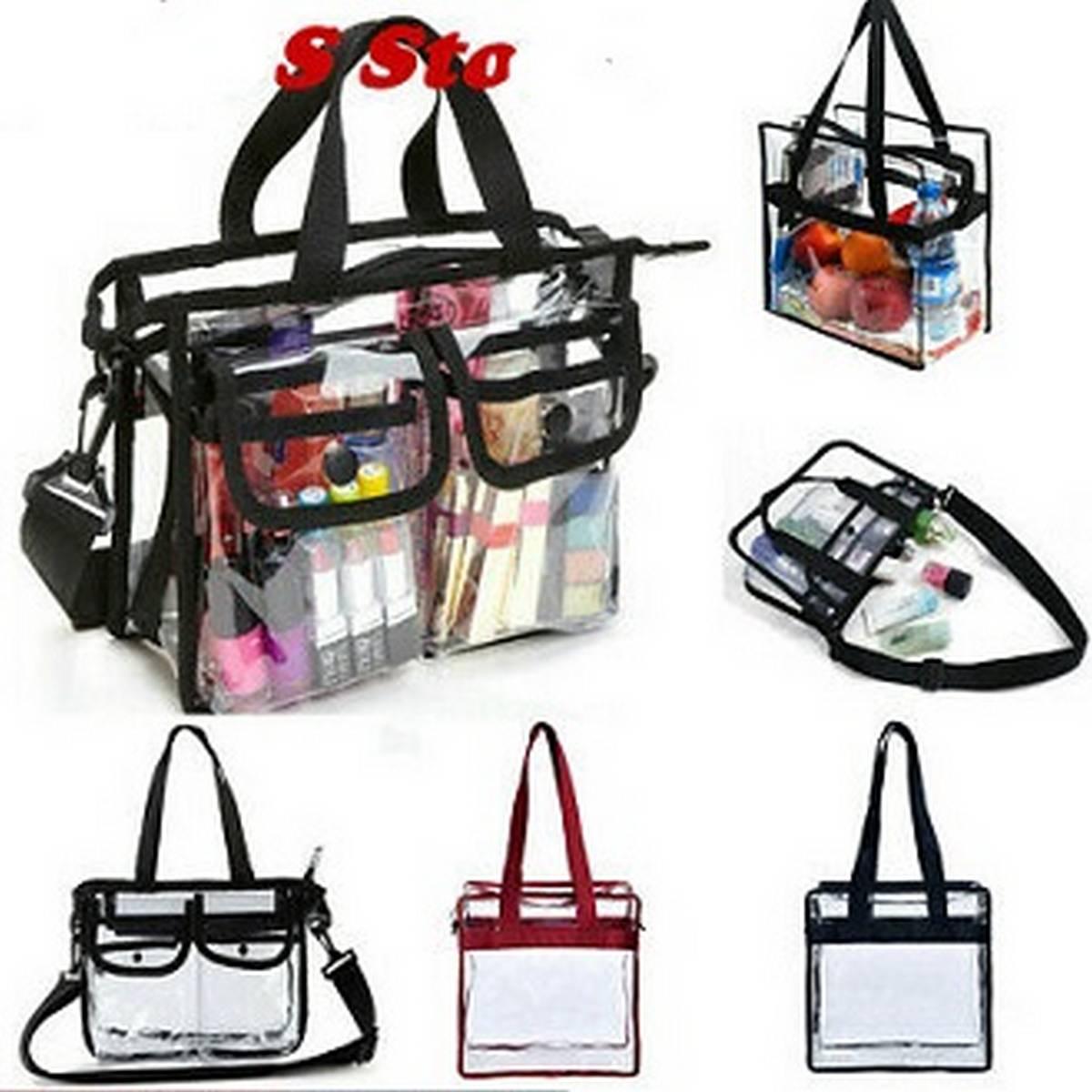 Women bag Clear Tote PVC Bags Shoulder Crossbody Fasion Transparent Note bag