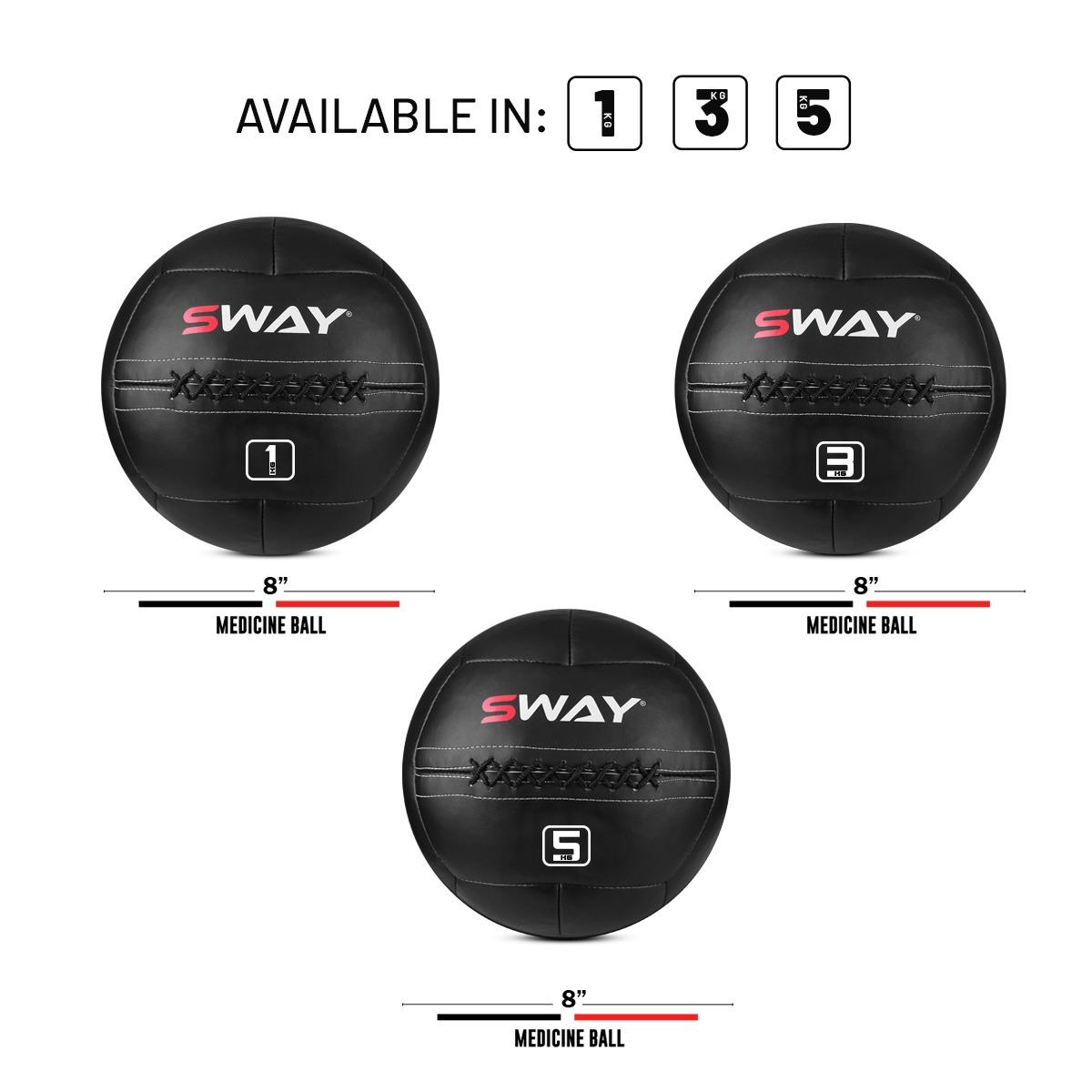 SWAY MEDICINE BALL (8''), SLAM BALL BLUE BLACK, WALL BALL, MEDICINE BALLS, CORE STRENGTH, FITNESS, HEAVY WORKOUT, WORKOUT BALLS, WEIGHTED BALLS, STRENGTH TRAINING EQUIPMENTS