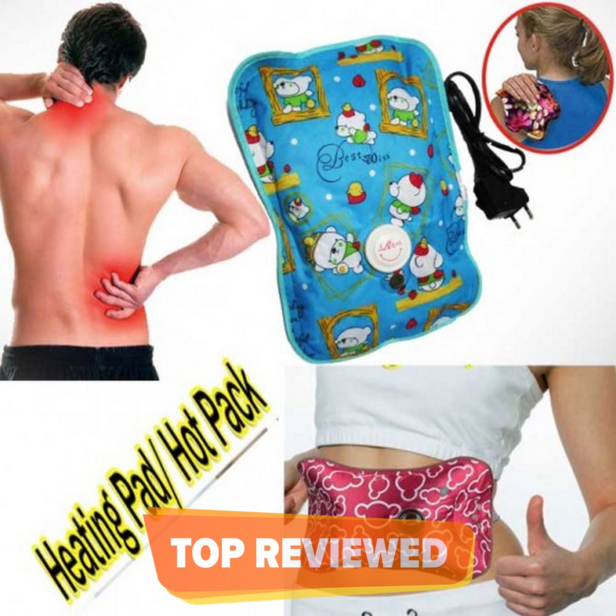 Electric Hot Water Bottle Heat Pad (Heat Bag) For Pain Relief