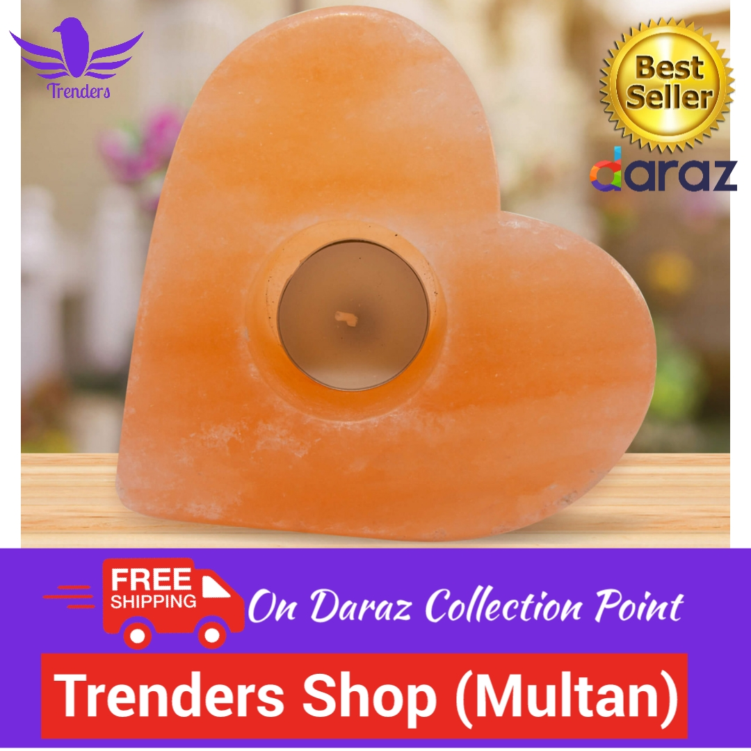 Love Heart Shaped Himalayan Salt Candle Holder/Tea light Holder For Home Decoration and Wedding Decorations