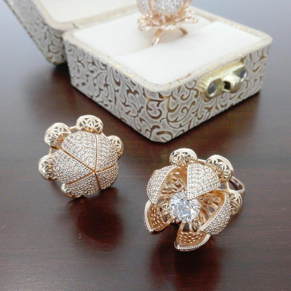 Flower Bloom Ring For Girls&Womens With Free Gift & Free Packing Box Adjustable Size Fit All