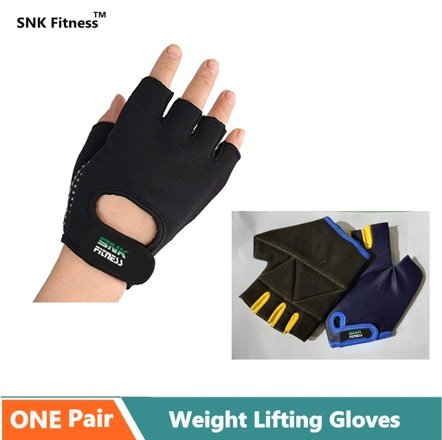 Gym Gloves Fitness Weight Lifting Gloves Body Building Training Sports Exercise Sport Workout Glove for Men Women {{RANDOM COLOUR}}