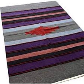 Avioni Handloom Cotton and Chenille Multicolor Durries