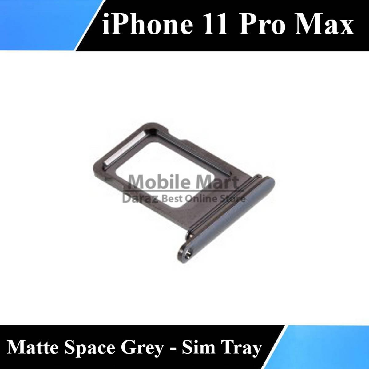 iPhone 11 Pro Max SIM Tray Sim Jacket Sim Slot Sim Door For 11 Pro Max - Matte Space Grey