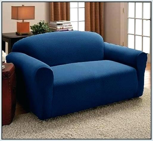 7 Seater Sofa Covers for Jumbo or XL Size (3 + 2 + 1 + 1) In Blue