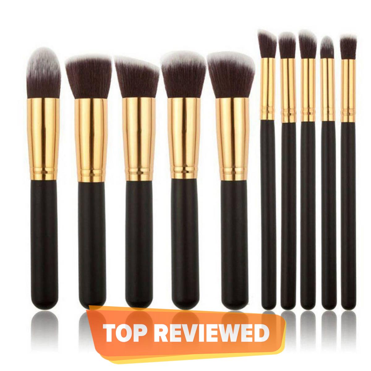 Make Up Brushes Tool 10 PCS Makeup Brushes Set Classic Matte Black Makeup Brush Maquillage Foundation Brushes Cosmetic Tool