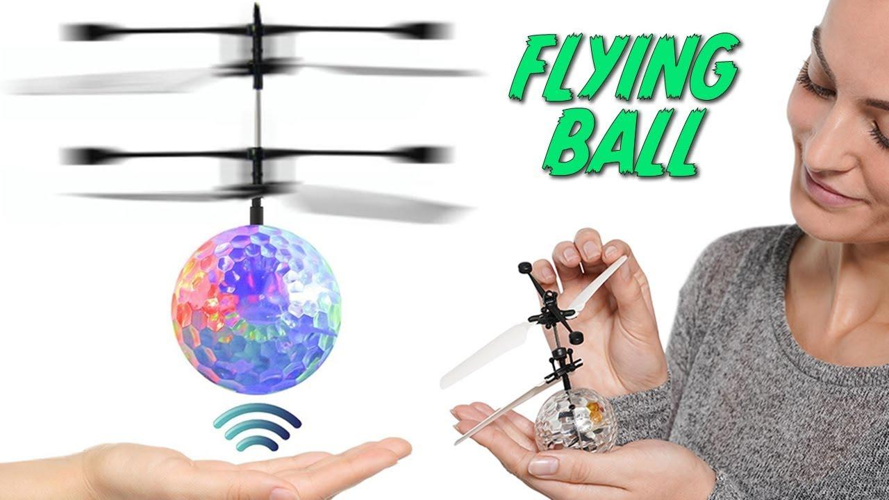 Flying Ball,Children Flying Toys, RC Drone Helicopter Ball Built-in Shinning LED Lighting for Kids, Teenagers - RC Toy for Children
