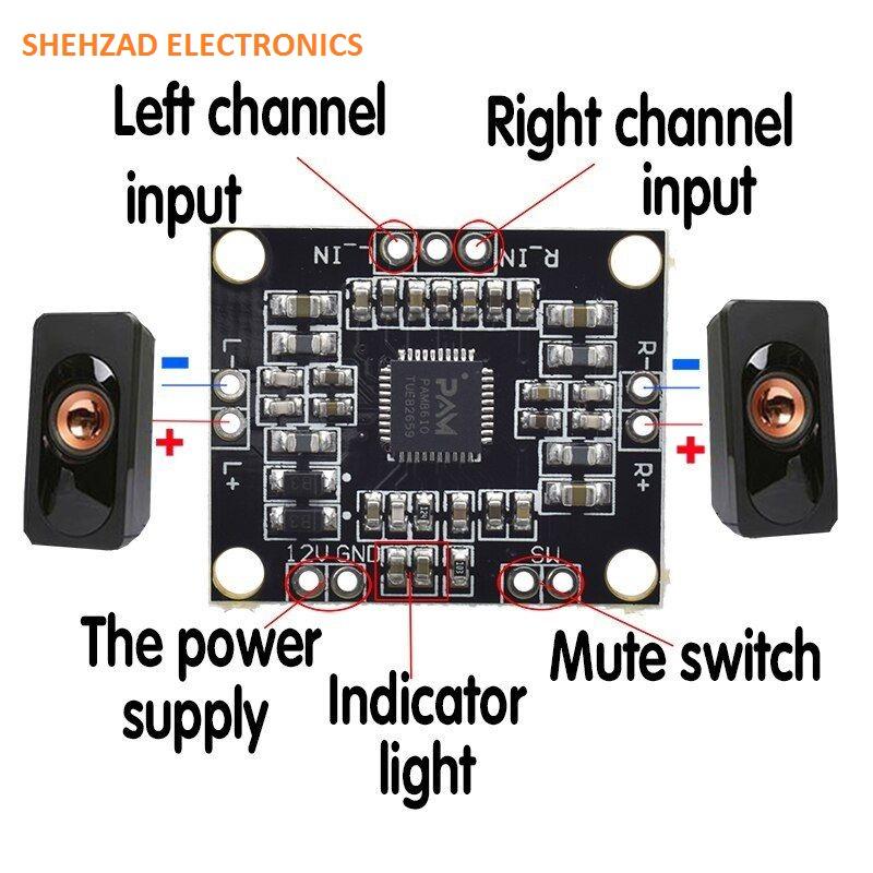 PAM8610 15W + 15W Two Channel Stereo Class D  Amplifier Board
