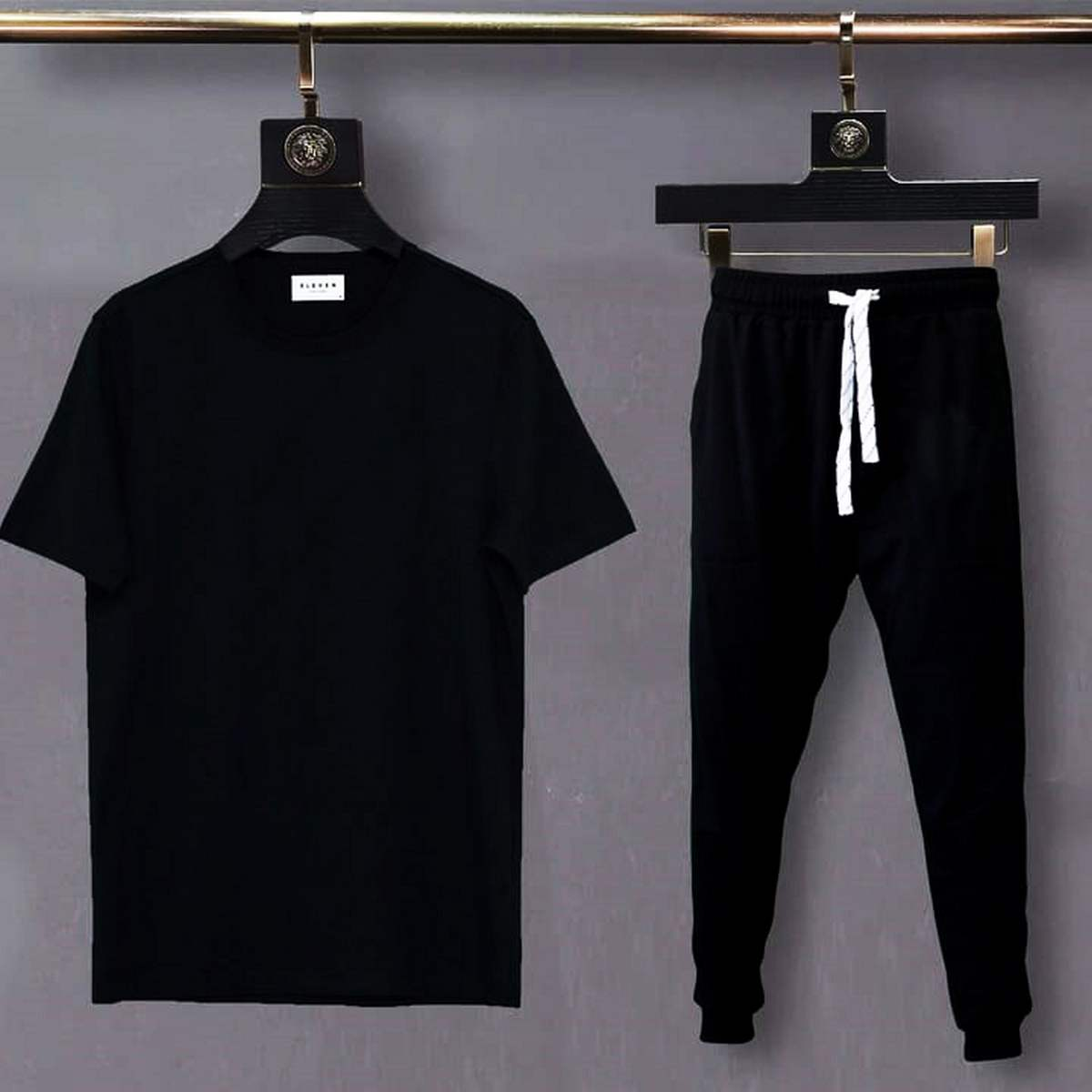 Plain Casual Cotton Round Neck Tees Half Sleeves Top Quality  Summer Collection T Shirt And Trouser For Men - Shez Fashion