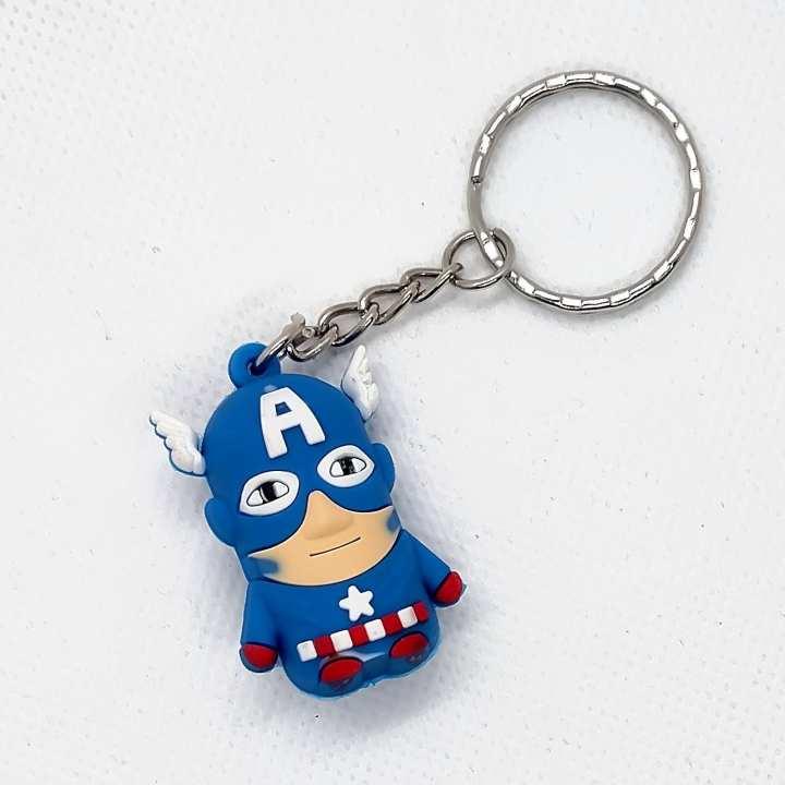 Captain America Super Hero Rubber Key Chain