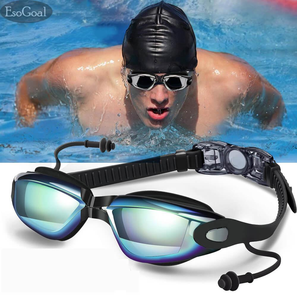 EsoGoal Swim Goggles Swimming Goggles for Adult Men Women Youth Kids Child  Triathlon Equipment with Mirrored & Clear Anti-Fog Waterproof UV 400  Protection Lenses: Buy Online at Best Prices in Pakistan