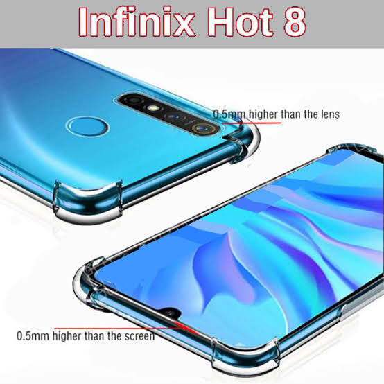Infinix Hot 8 Antishock Air cushions Drop Resistance Transparent Tpu Case Silicone Back Cover