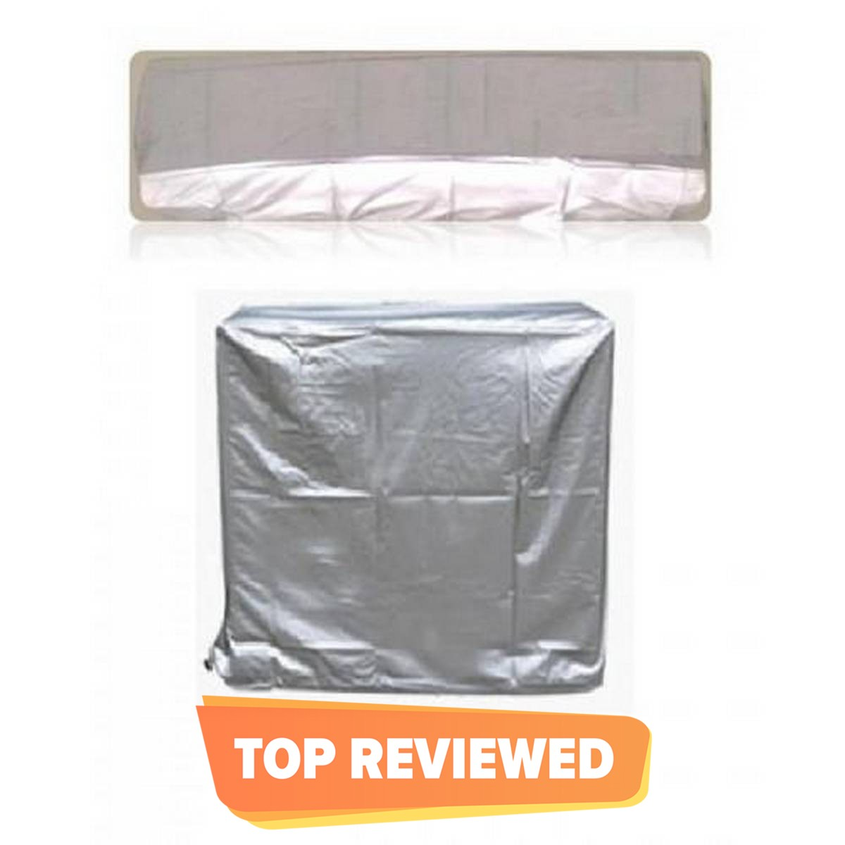 AC Dust Cover For Indoor & Outdoor Unit - Silver 1.5 Ton