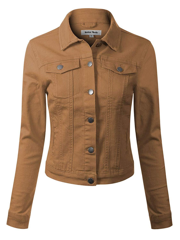 Prime Womens Ladies Denim Jacket Jeans Jacket All Colours