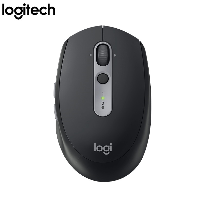Logitech M590 Silent 2in 1 Wireless Bluetooth and 2.4Ghz USB Mouse for Multi-Device - Black
