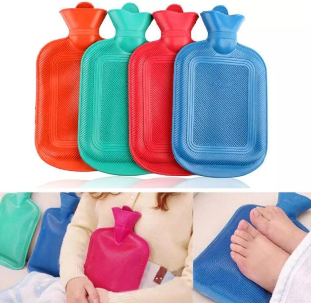 HOT WATER Bag/Bottle Natural Rubber - Red - Large Size with FREE COVER