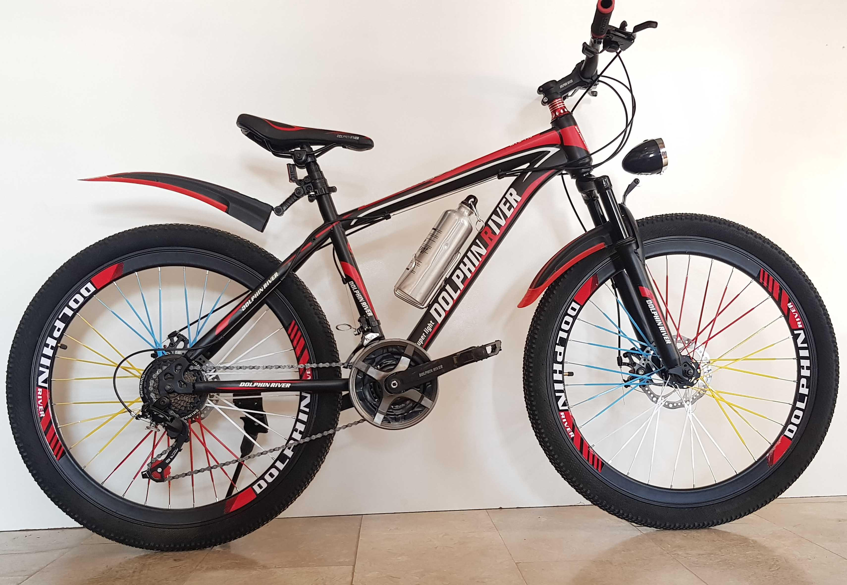 Dolphin River Bicycle-26 Inches-Black & Red