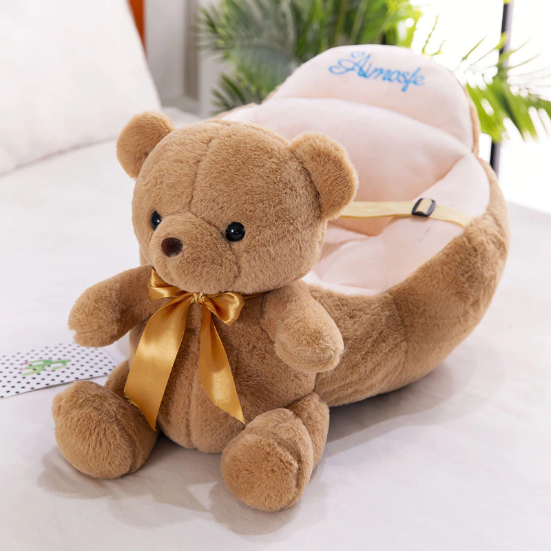 Baby Stuffed Floor Playing Seat Anti-fall Sofa Infant Support Seat with Safety Straps Easy Carry Learning Seat Sitting for Pillow Chair Cushion Bouncer Floor Seat Feeding Plush Play Cute Animal Seats Play Cotton Nest Puff Safety Chair Soft Babies Toys