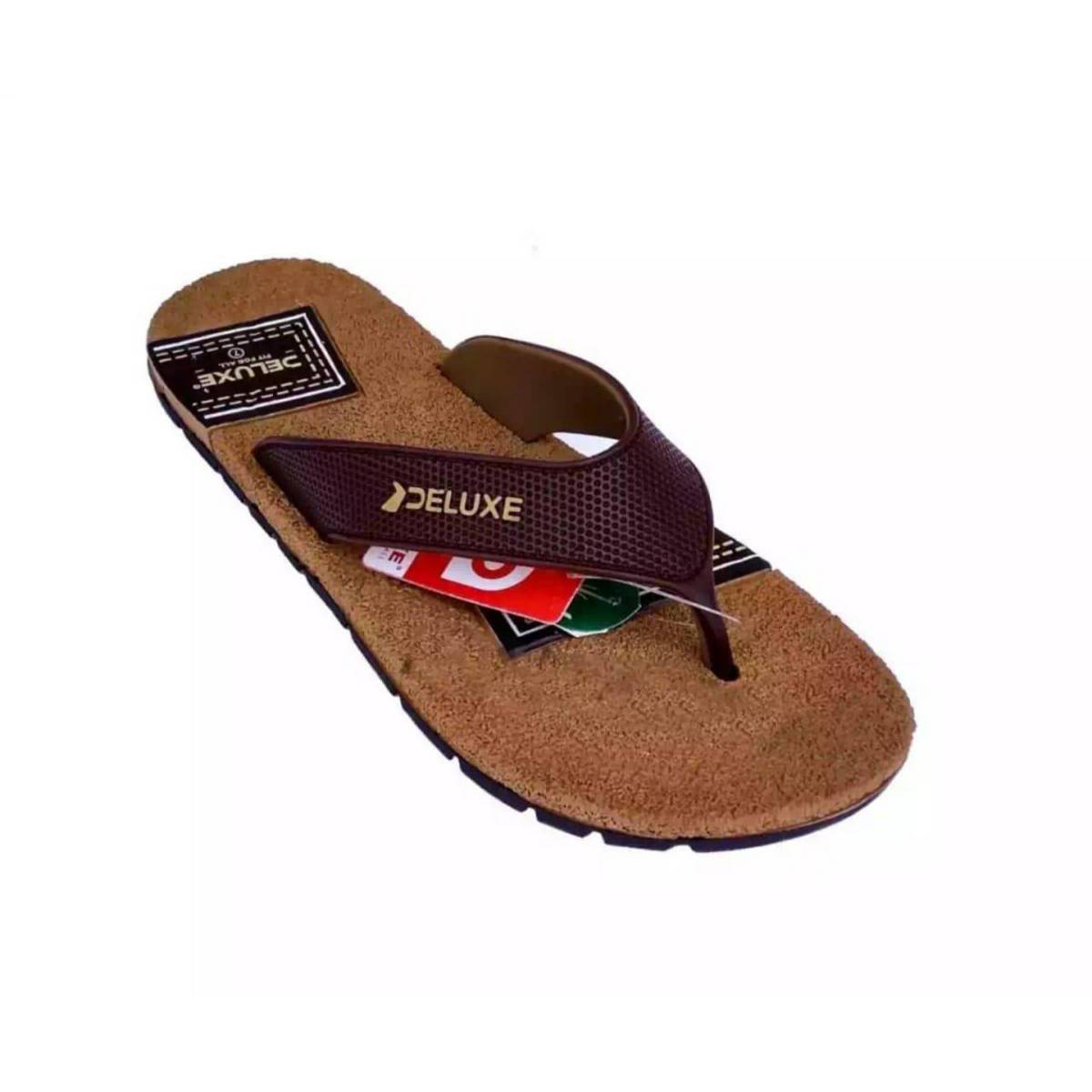 DELUXE CASUAL CHAPPAL FOR MEN FLIPFLOP BROWN WITH LATEST DESIGN
