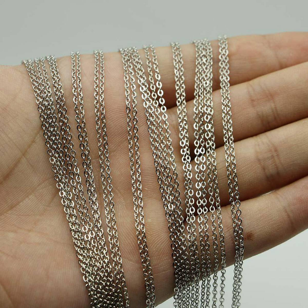 50cm Steel Necklace Charm Chains For DIY Jewelry Findings Making Materials Accessories