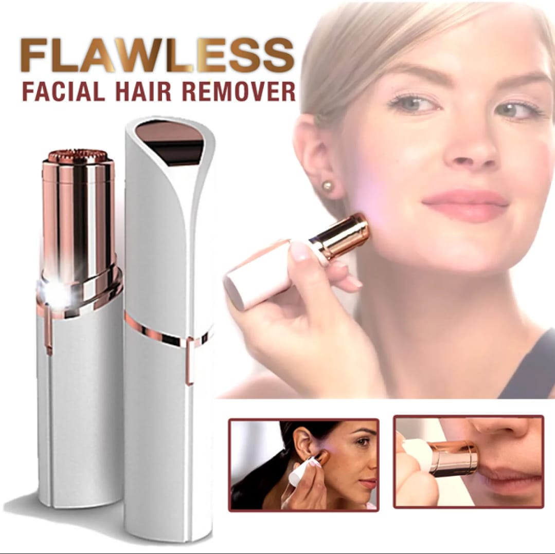 Rechargeable Flawless Facial Hair Remover With USB Cable Imported