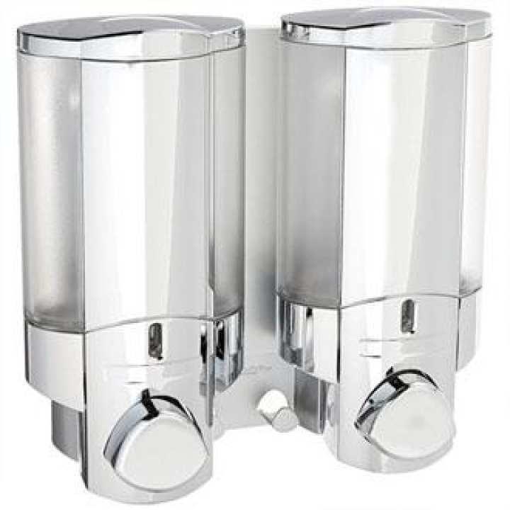 Wall Mount Liquid Soap & Shampoo Dispenser 350 ml - Silver