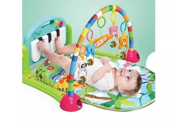 Huanger 3 In 1 Newborn Baby Play Gym Piano Fitness Rack Mat