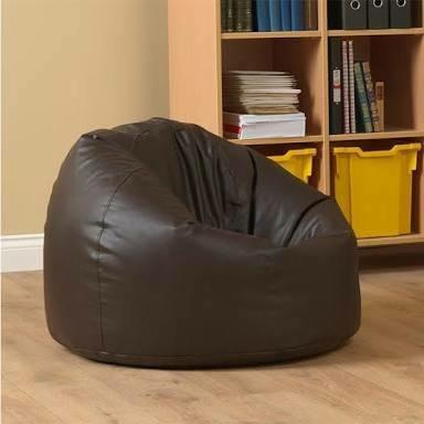 Puffy Style Leather Bean Bag Sofa