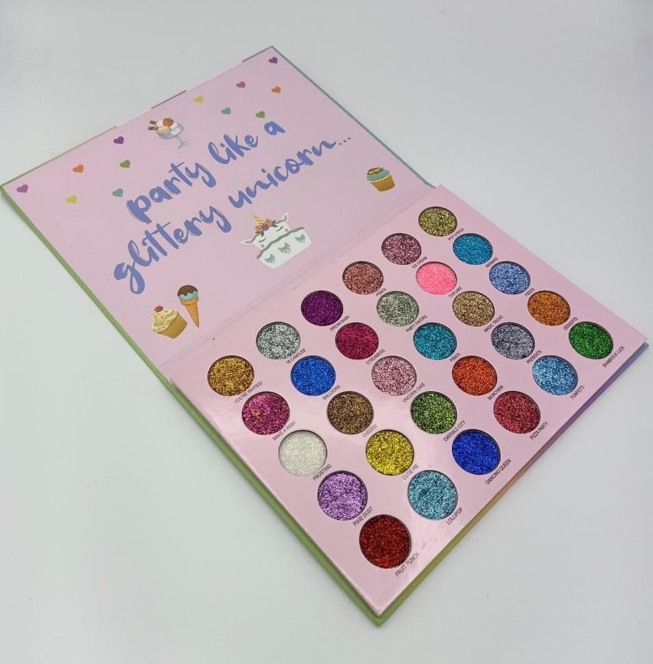 Party Like A Glittery Unicorn Waterproof 30 Color Glitter Eyeshadow  Palette: Buy Online at Best Prices in Pakistan   Daraz.pk