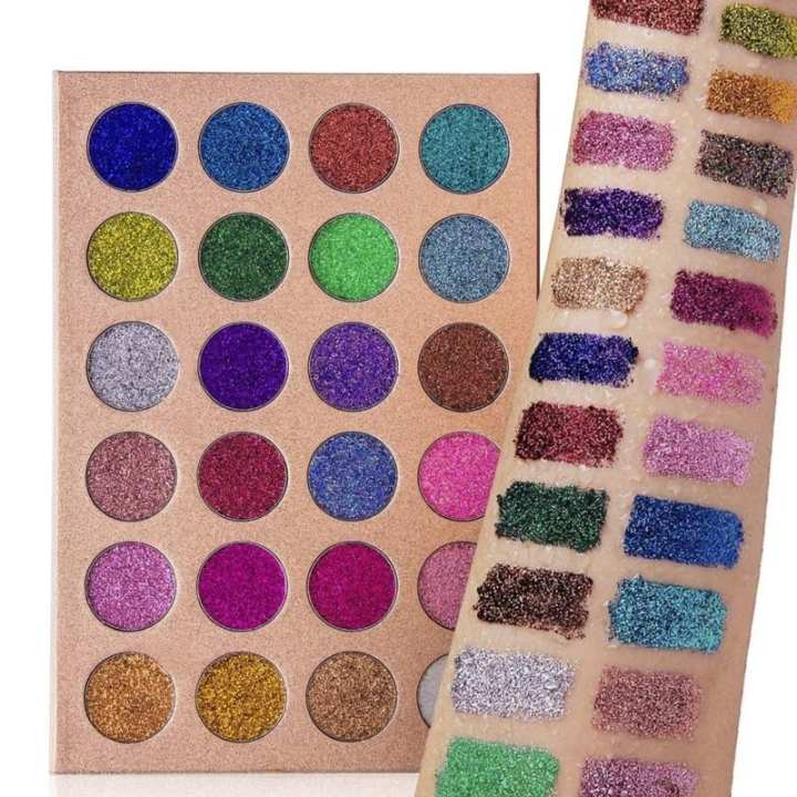 CLEOF Glitter 24 Colors Creamy Eye Shadow Palette