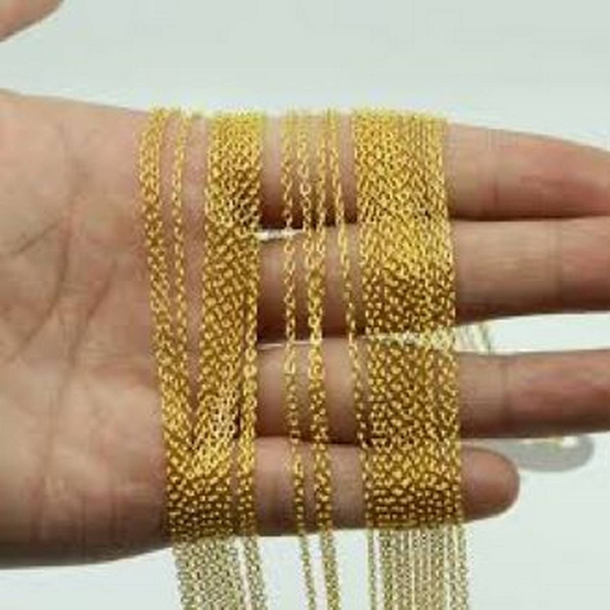 100cm Silver And Gold Necklace Charm Chains For DIY Jewelry Findings Making Materials Accessories Wholesale
