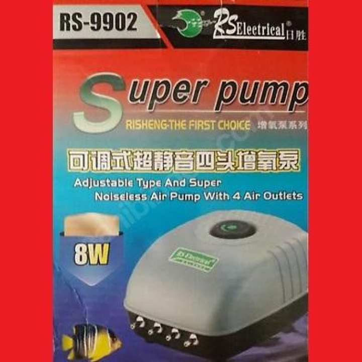 8W Electric Air Pump / 4 Air Outlets / Model # RS-9902
