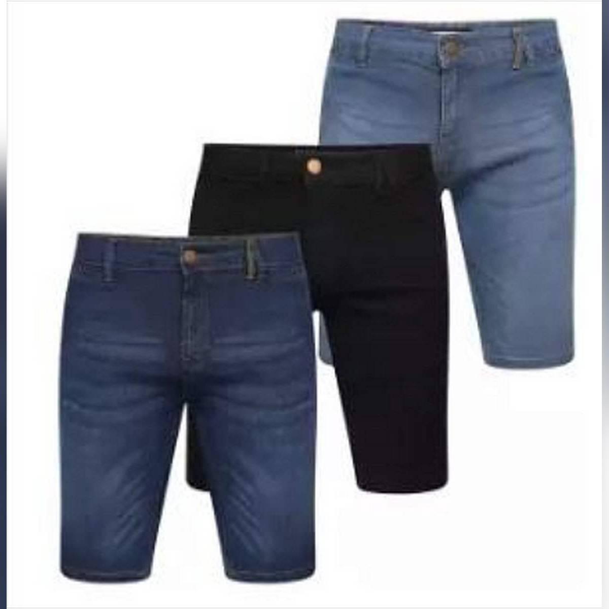 Pack Of 3 New Style Denim Shorts Men's