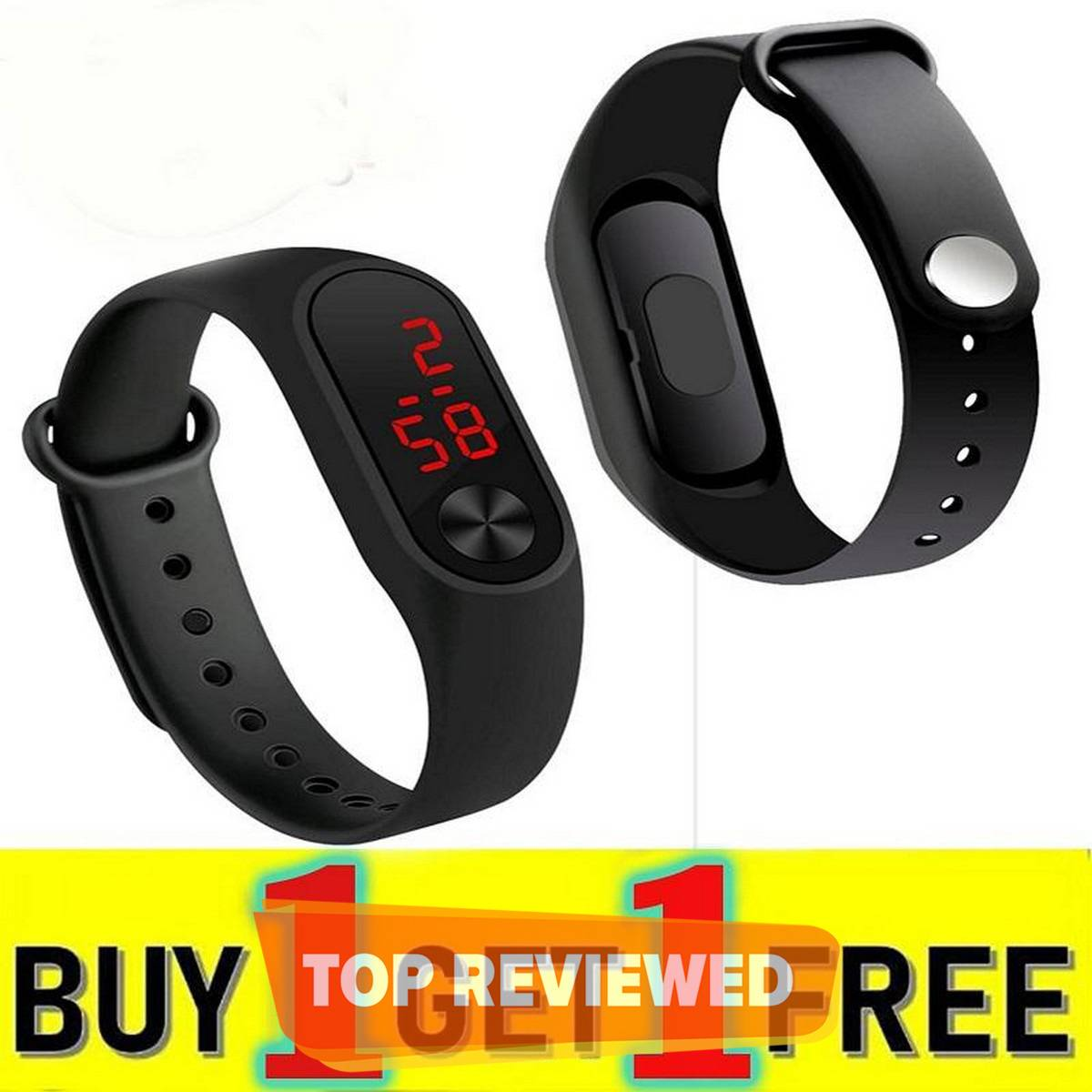 Pack of 2 M3 Touch Led Bracelet Digital Watch Band