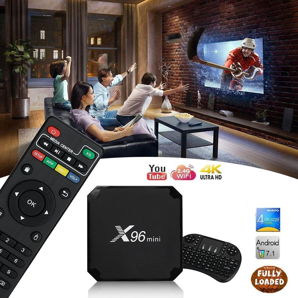 Free Wireless Keyboard - AMGUR X96 Mini Android 7 1 TV Box Amlogic S905W  Quad Core 2GB Android TV Box 16GB ROM UHD 4K Smart TV Box Support 3D WIFI  VP9