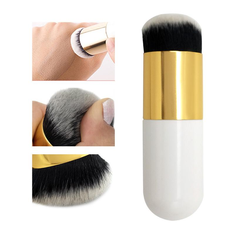 Chubby Pier Foundation Brush Flat Cream Makeup Brushes Professional Cosmetic 1PC